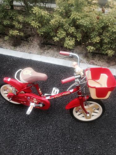 自転車の 子供 自転車 中古 14インチ : ... ピグレット+赤+14インチの画像