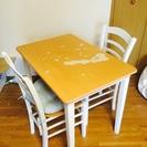 テーブル+椅子2脚