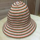 新品🌟ベビー帽子 48cm オレンジ系