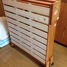 日本製 折りたたみ ひのきのすのこベッド(シングルサイズ)