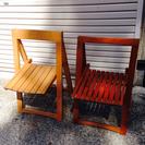 【終了】無料!折り畳み式椅子2セット