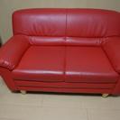 かわいい赤いソファ!無料で差し上げます。