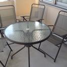 ガーデンテーブルセット+パラソル