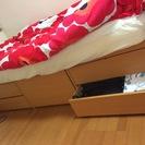 【大量収納ベッド】都内マンションでの女子一人暮らしに最適!