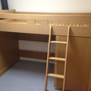【交渉中】 村内家具 木製ロフトベッド