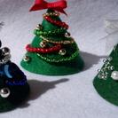 「ビーズ刺繍でクリスマスツリー作り」
