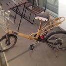 オレンジのオシャレ折りたたみ自転車