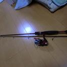 【釣り】【バス釣り】 バス釣り用釣り竿、リール、ルアー一式 初心者用