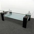 センターコーヒーテーブル ガラス製 リビング 港区引取可 USED