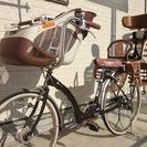子供乗せ付き(前後)自転車 オート...