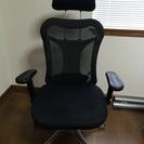 オフィスチェア メッシュ黒 パソコンデスクに最適な椅子 高さ調節で...