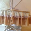 ベビーベッド布団セット(蚊帳つき)