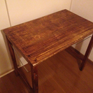 折りたためる木製机