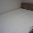 IKEA ダブルサイズベッド(フレーム・すのこ・マット・専用収納ボ...