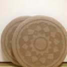 藁素材 円座 座布団 2枚セット 美品