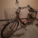 電動自転車 ヤマハPAS リチウム レッド 26インチ 中古
