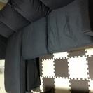 IKEA ソファ 2人掛け&寝椅子 ネイビー