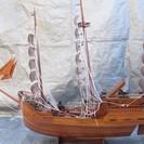 ☆木製 大型 帆船 模型☆中古品☆旧浜田市内は無料でお届けします。