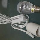 DC12V用 3W LED電球 ソケット3mケーブル・中間スイッチ...