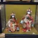 あげます。  日本人形 ガラスケース