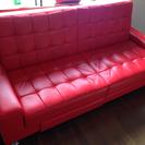 ソファーベッド  赤