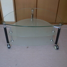 (取引確定) リビングテーブル 3段ガラス