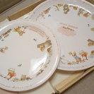 ♡パーティー準備 大皿1枚と中皿1枚 動物たちの模様