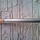 使い古しの普通の物干し竿(短くして150cmくらい、両側伸ばして2...
