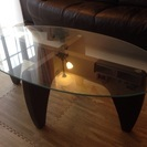 デザイン ガラスローテーブル