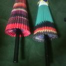 紙で作った傘の置物!