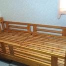 木製ベッド ライトあり☆引き取りのみ