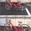 ★中古 自転車 27インチ 6段変速 軽快車 チェーンロック付き