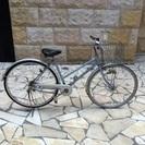 27インチの水色自転車をお譲りします。