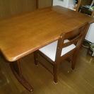 ダイニングテーブル・椅子・チェア・机・茶色・セット・木製・天然木・ニトリ
