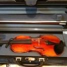 バイオリンと付属品(弓、肩当、松脂、A音叉、ケース、消音器、弱音器...