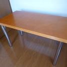 天然木化粧合板テーブル 引取り限定