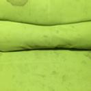 1年使用緑色のソファベッド