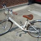 取り扱い説明書付き 24インチ 白い自転車