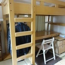 システムベッド(学習机とベッド)