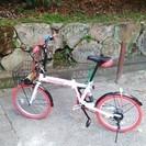 GRAPHIS(グラフィス) 折りたたみ自転車20インチ 6段変速...