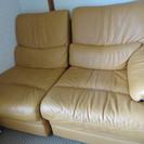 皮のソファー 直接家に取りに来られる方。