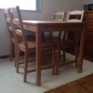 受付終了 ダイニングテーブル、椅子4脚