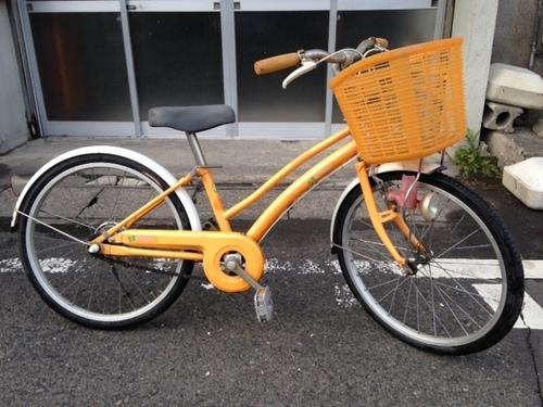 供用自転車 20インチ 黄色 前か ...