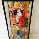 日本人形 羽子板飾ケースオルゴール付き宝玉 道成寺