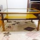 [値下げ]木枠ガラステーブル