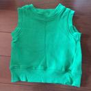 緑色のベスト 80cm