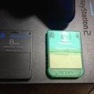 終了 PS2本体、メモリカードx2、コントローラx1、AVケーブル...