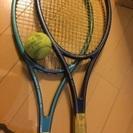 テニスラケット2つ ボール1個付