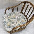 ☆籐製回転座椅子 中古品☆旧浜田市内は無料でお届けします。