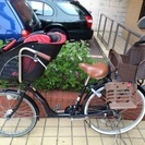 ママフレ子供乗せ自転車♡後ろの子供...